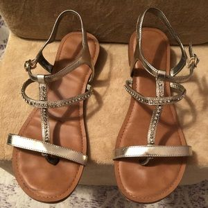Kelly & Katie Phoenix gold gladiator sandal